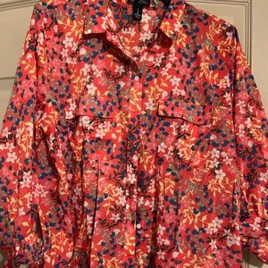 GAP FLORAL PRINT BUTTON DOWN